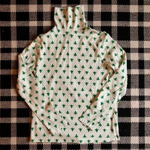 Christmas Tree Print Holiday Turtleneck